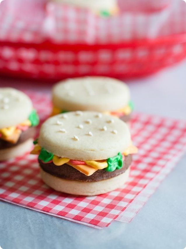Burger cookie