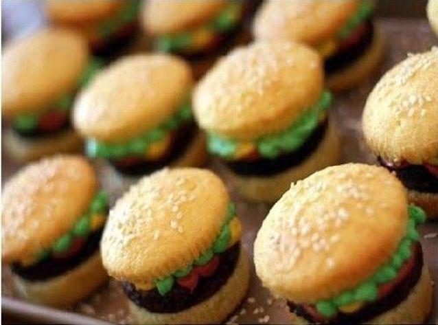 Cupcake burger