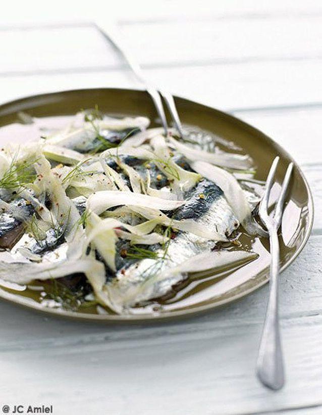 Sardines marinées à la coriandre et au fenouil fin fin fin
