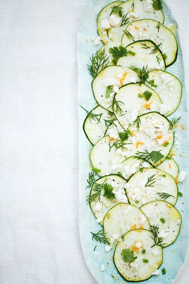 Carpaccio de légumes courgette