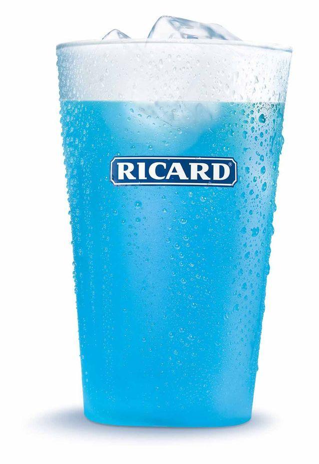 Cocktail Bleu avec du Ricard