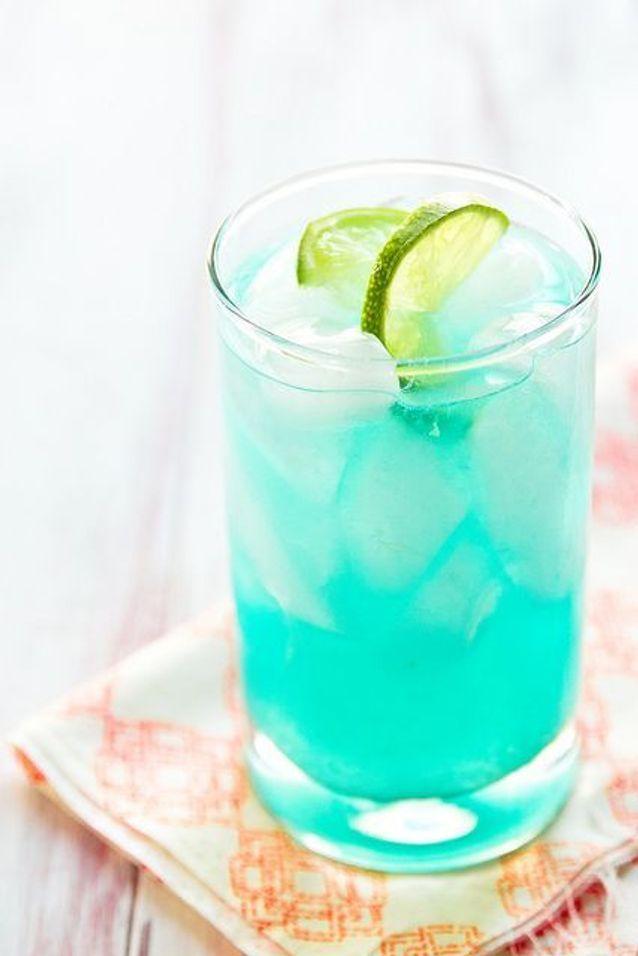 Cocktail bleu azur