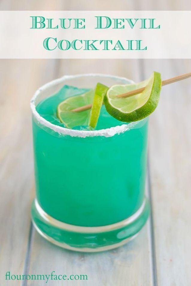 Cocktail bleu curaçao