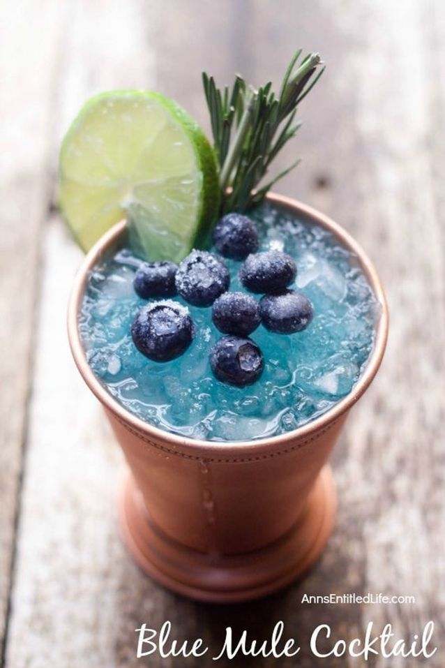Cocktail bleu vodka