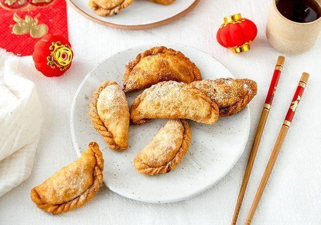 Pas à pas : Yau Gok, les dumplings frits à la cacahuète pour le Nouvel An Chinois de Plus une miette