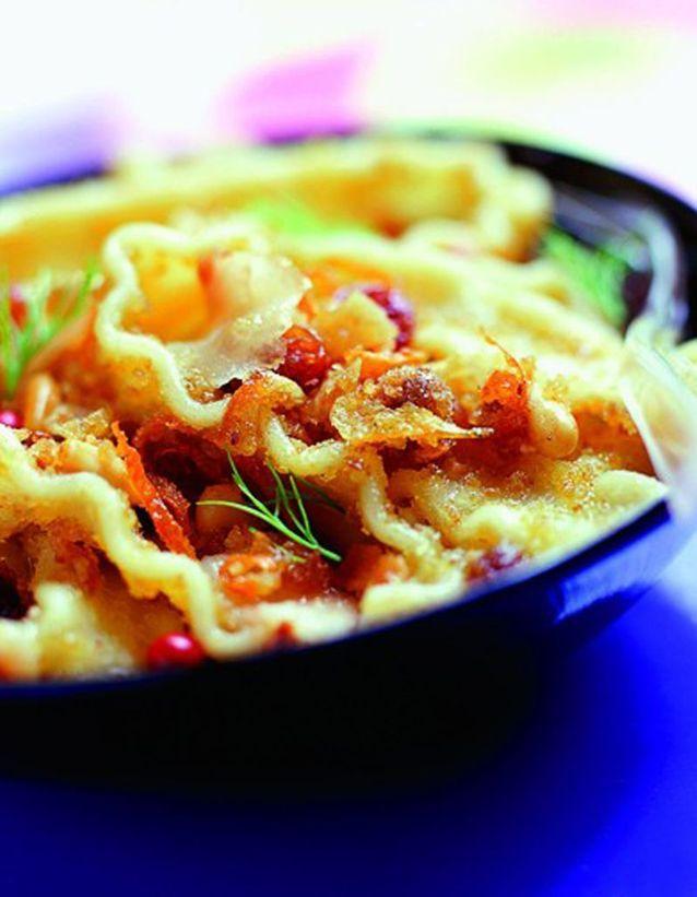 Salade de pâtes à l'espadon au parfum d'orange