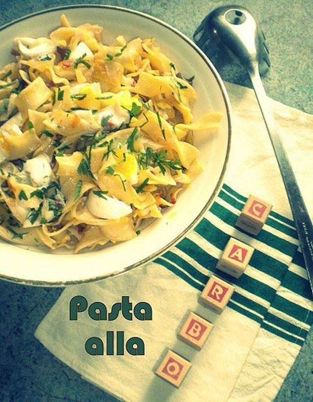 Salade de pâtes à la carbonara