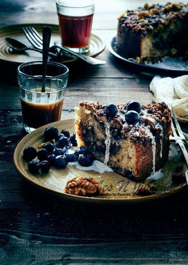 Crumb cake myrtilles