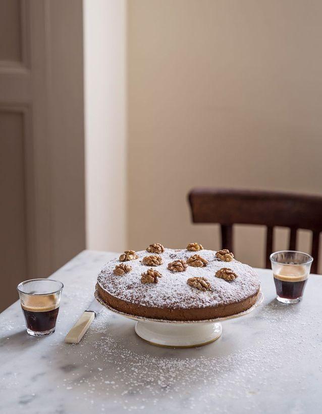 Gâteau aux poires et noix