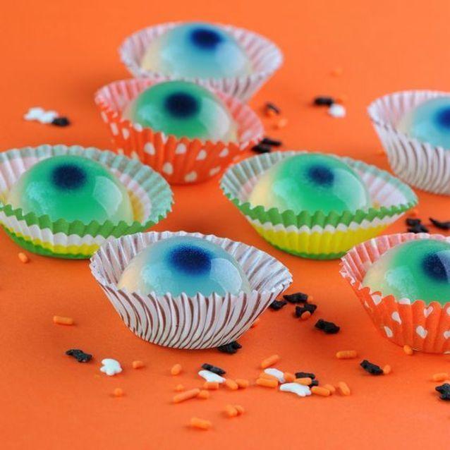 Cupcake halloween oeil globuleux