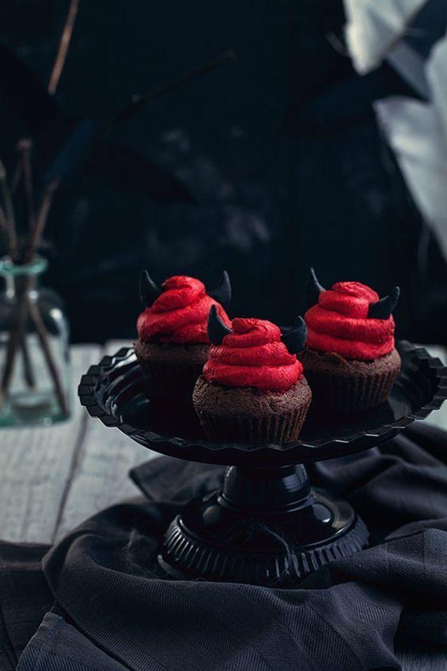 Cupcakes Halloween démon