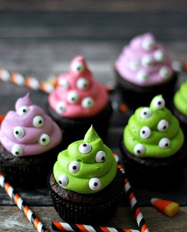 Cupcakes halloween monstres
