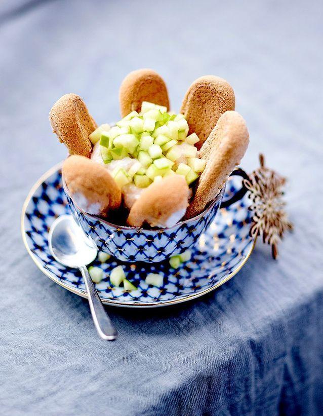 Charlottines aux marrons glacés et pomme acidulée