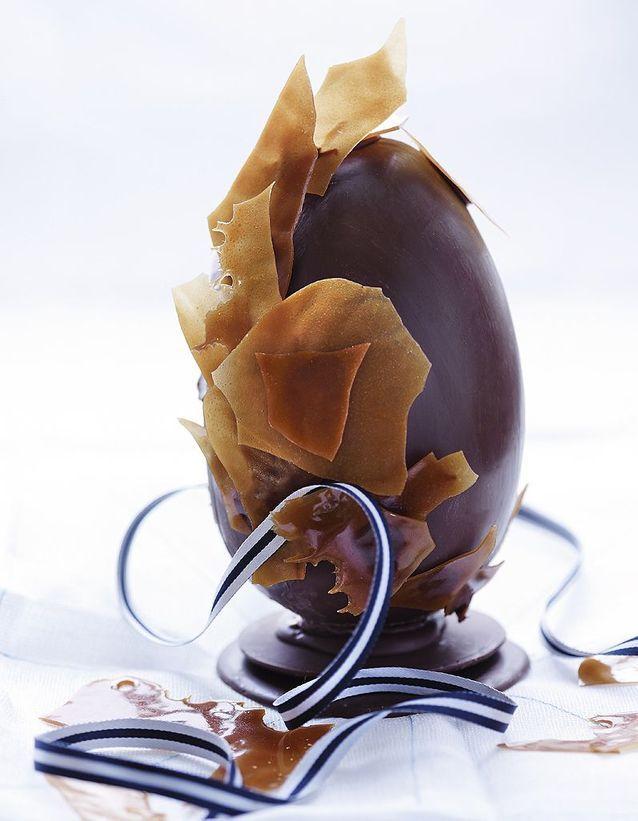 Dessert de pâques : Oeuf de paques au chocolat