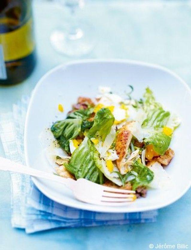 Salade caesar et poulet grillé