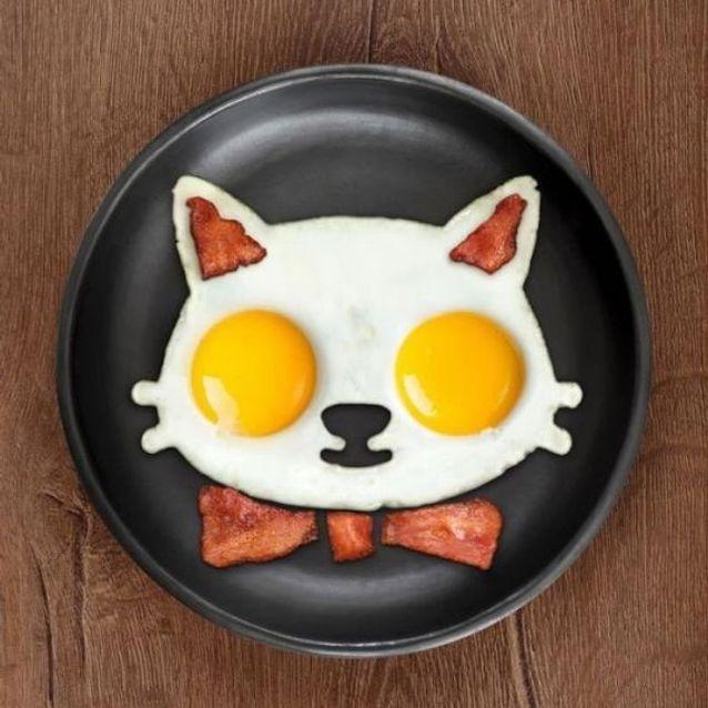 Œuf au plat et bacon