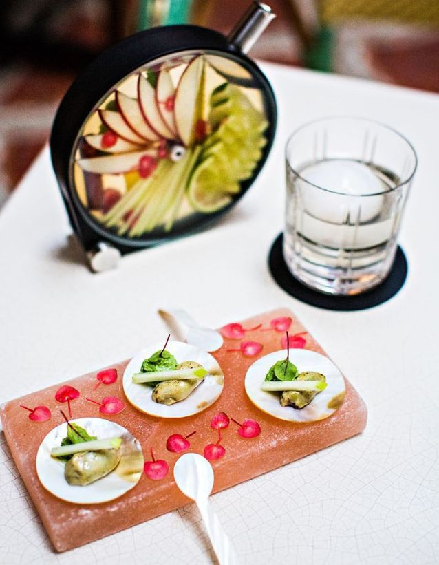 Un cocktail fleuri