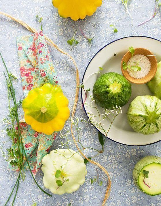 Fruits et légumes de saison avril : courgette ronde