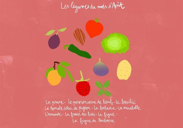 Quels fruits et légumes de saison en août ?