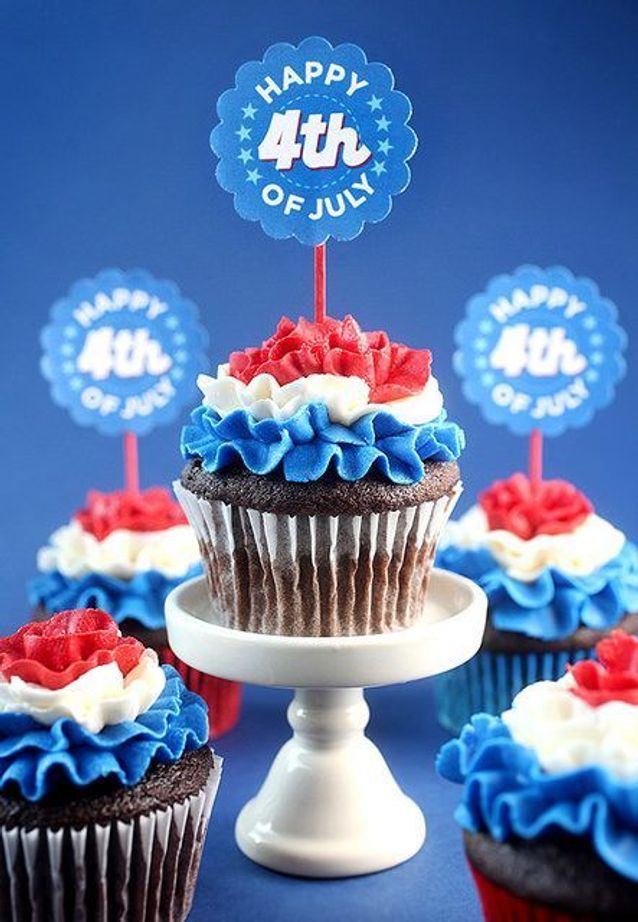 Cupcakes glaçage tricolore