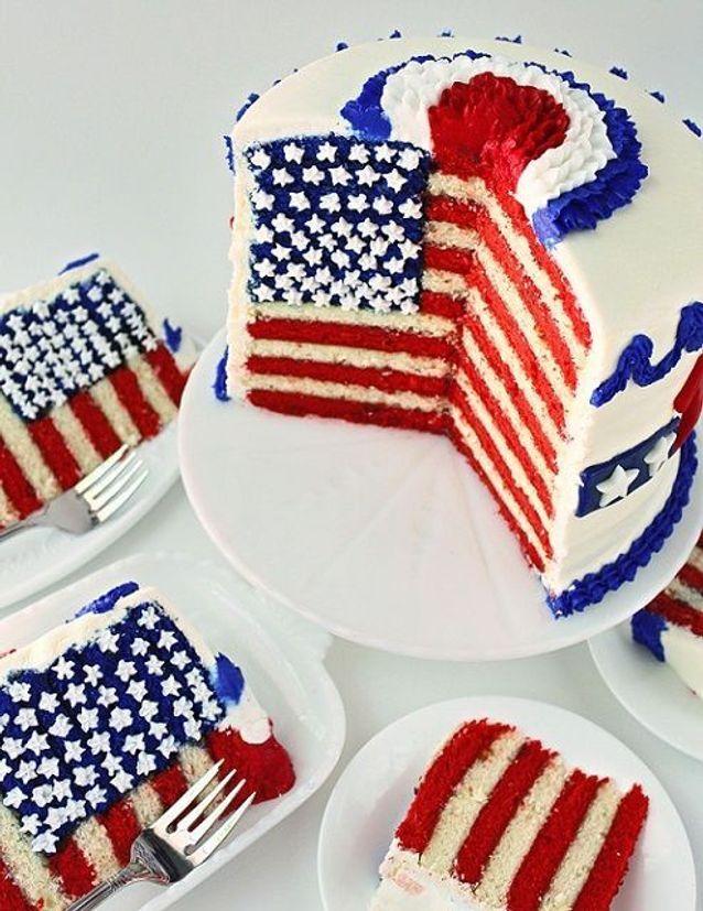 Layer cake drapeau