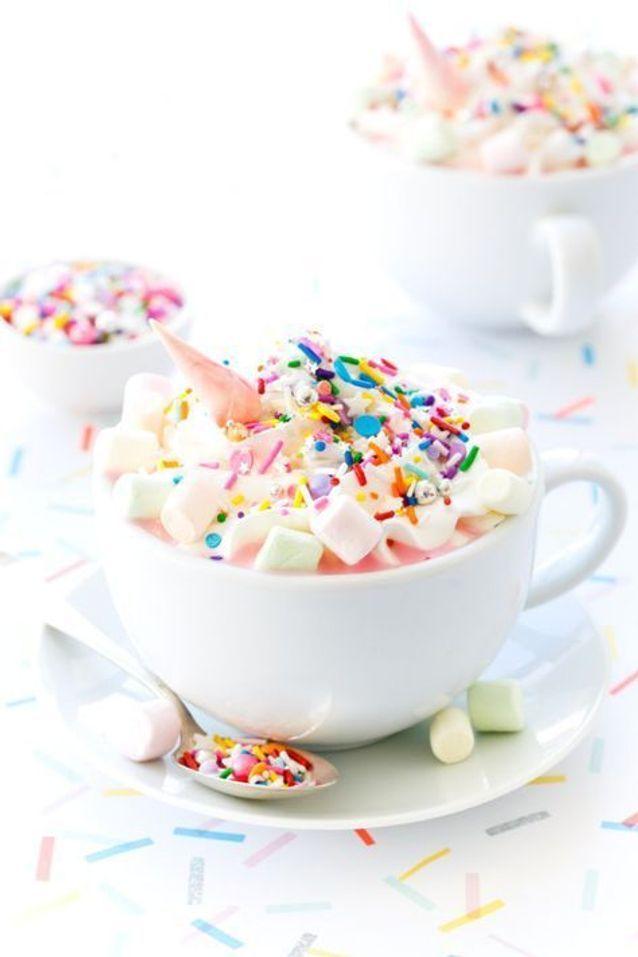 Chocolat chaud licorne