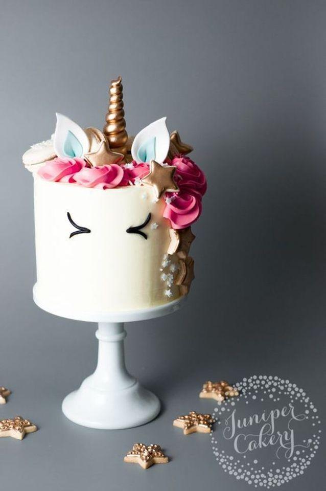 Gâteau tête de licorne