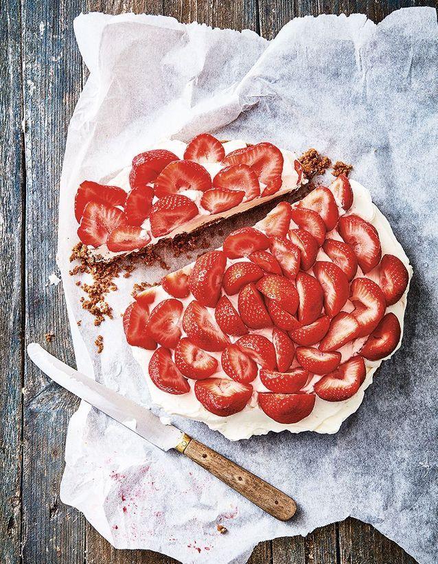 Gâteau aux fruits rouges sans cuisson