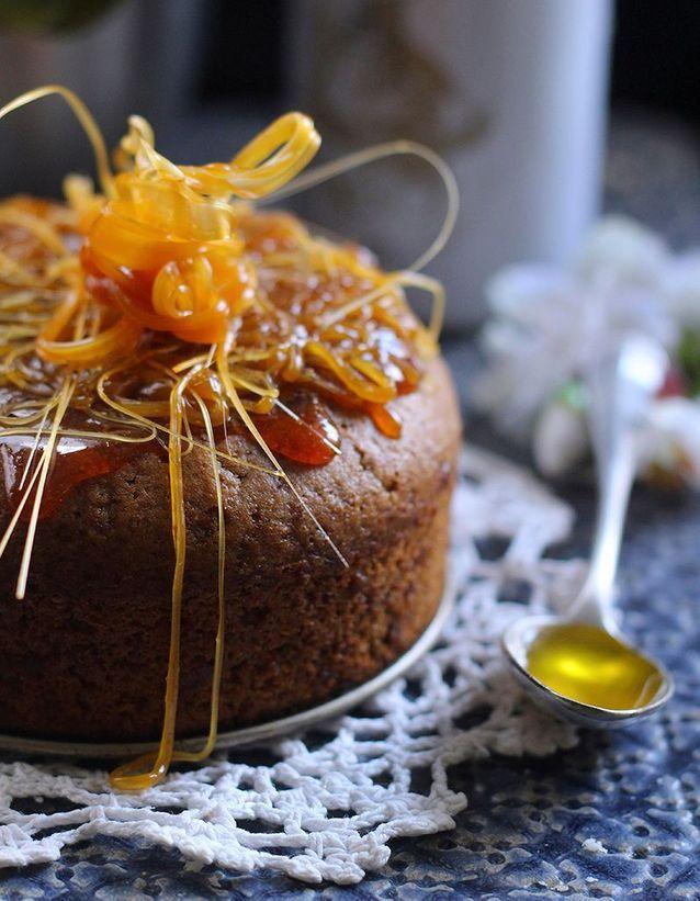 Gâteau sans œuf, sans beurre, à l'huile d'olive