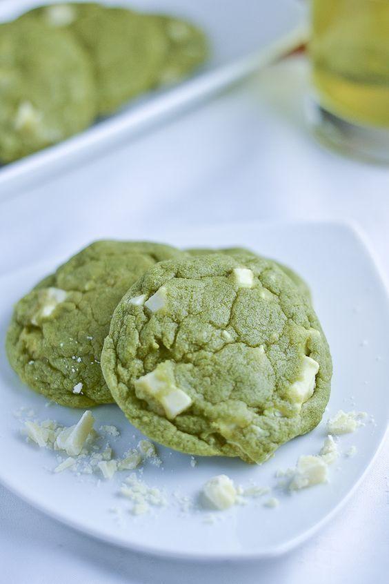 Des cookies au thé matcha