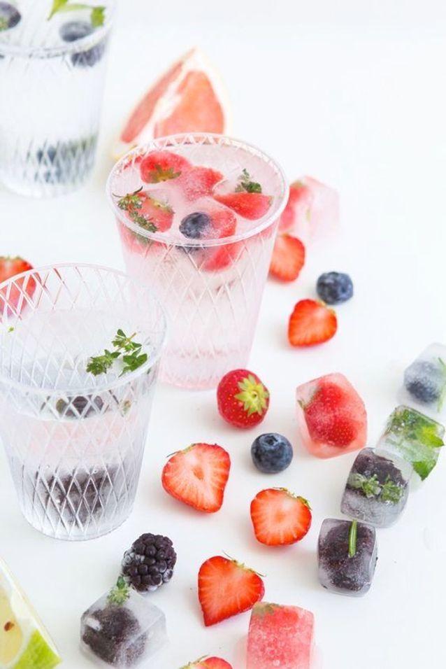 Glaçon aux fruits