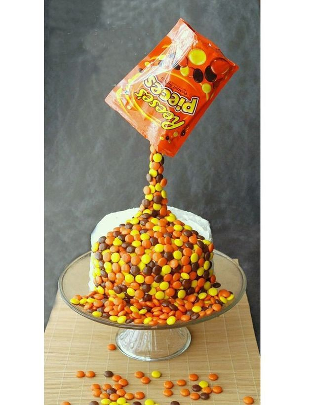 Gravity cake aux Reese's