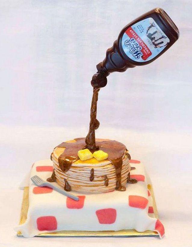 Gravity cake pancakes et sirop d'érable