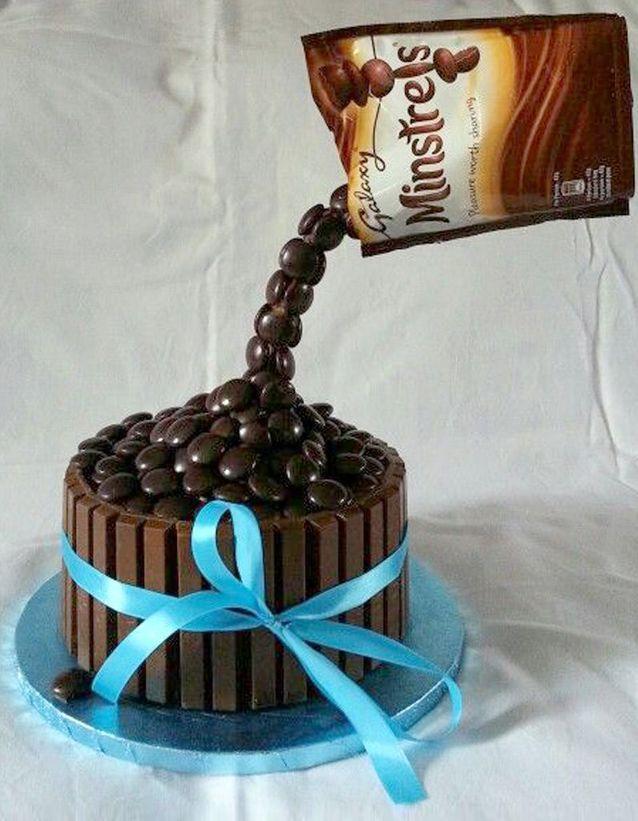 Gravity cakes aux bonbons au chocolat