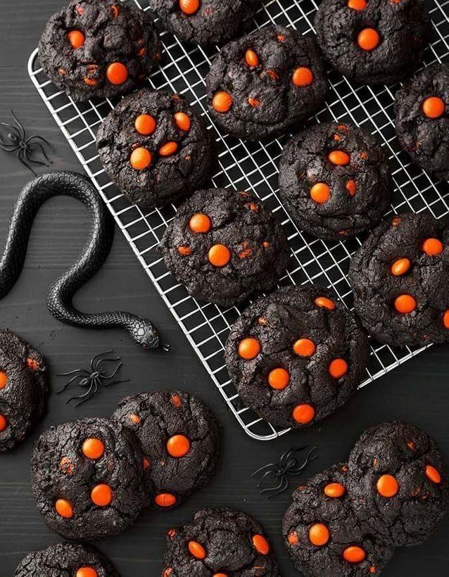 Cookies d'Halloween au cacao noir