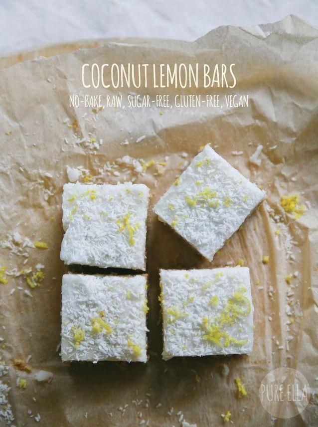 Junk food healthy : Barres de céréales coco citron