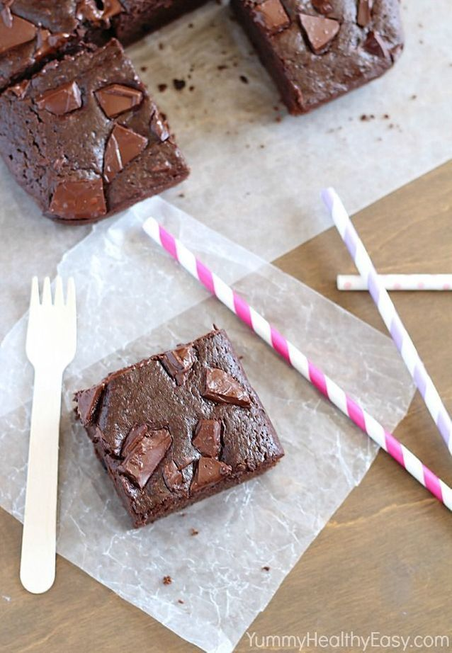 Junk food healthy : Brownie au chocolat sans beurre