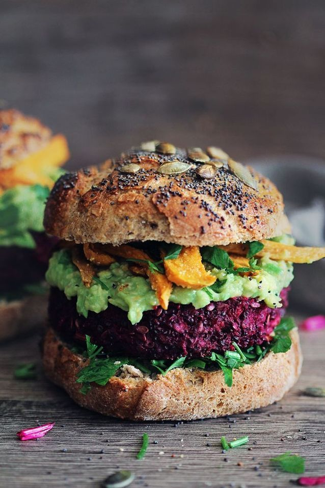 Junk food healthy : Burger végétarien à la betterave