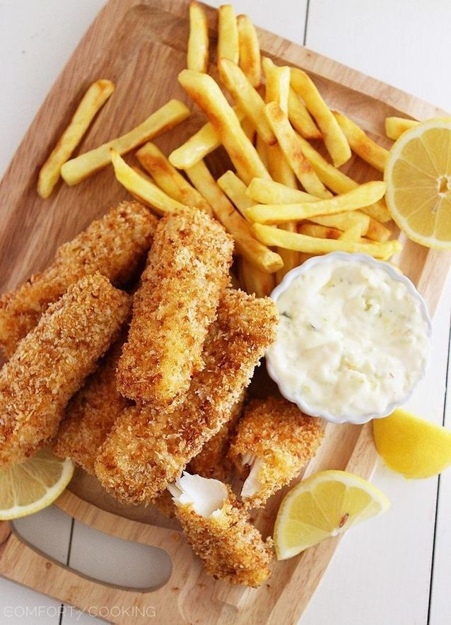 Junk food healthy : Fish and chips au four