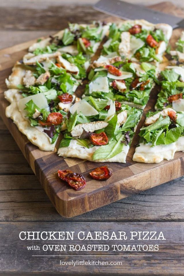Junk food healthy : Pizza salade Caesar