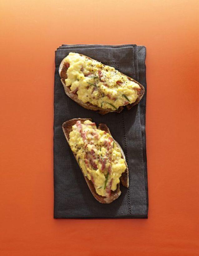 Brouillade d'œufs au chorizo