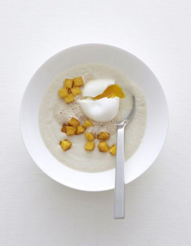 Crème de topinambours à l'œuf