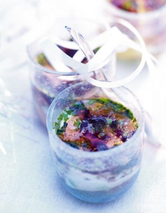 Œufs en gelée d'algues