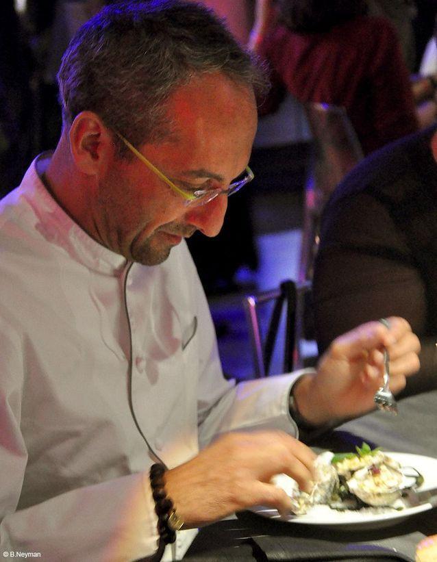 Michel Portos et son plat