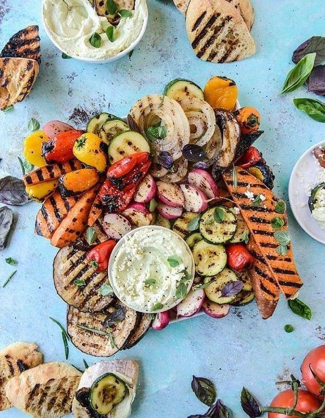 Légumes mélangés grillés