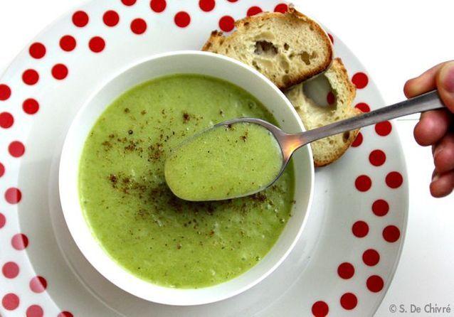 La soupe classique revisitée, la soupe brocolis, pommes de terre et cumin