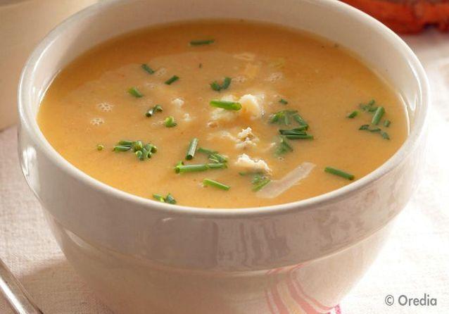 La soupe « smiley », la soupe orangée