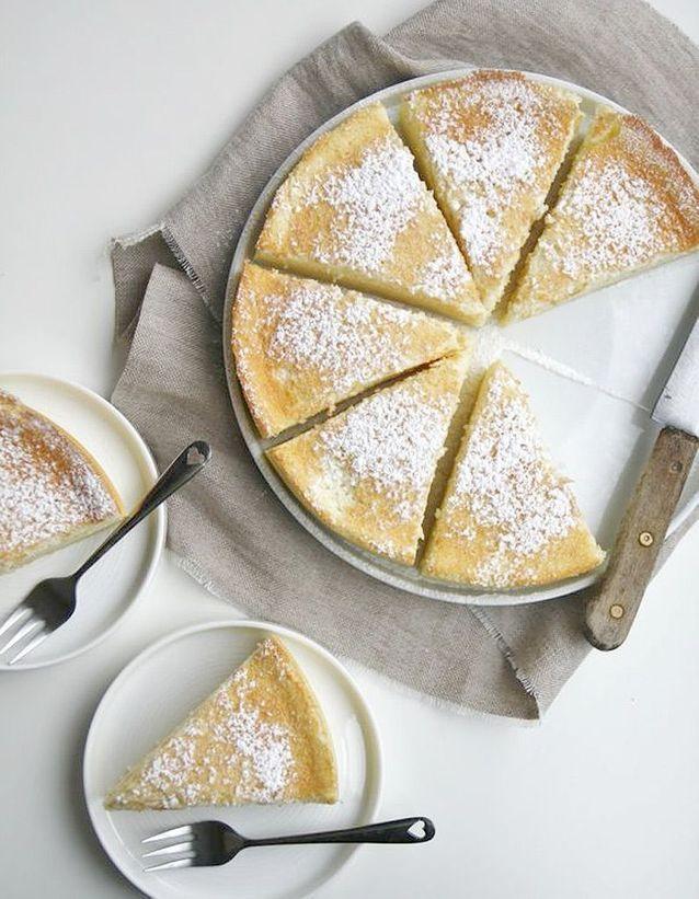 Gâteau magique à la noix de coco râpée