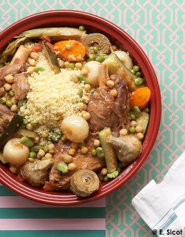 Couscous agneau Legumes