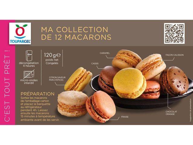 Boîte 12 macarons Toupargel